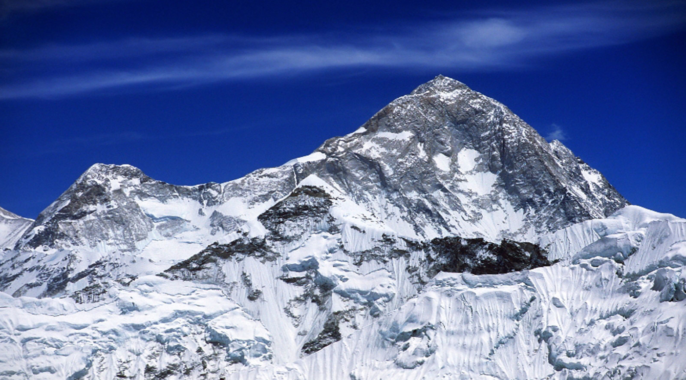 Located 14 miles east of Mt. Everest, on the border between Nepal and China, Makalu is the fifth highest peak in the world (27,762 ft). Photo: Marko Prezelj