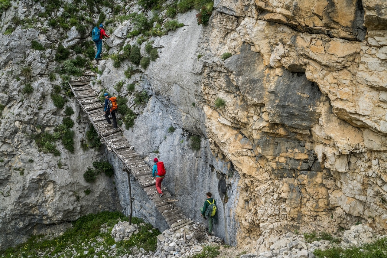 Aproaching more stellar limestone routes at the Bovilla crag. Photo: Mikey Schaefer