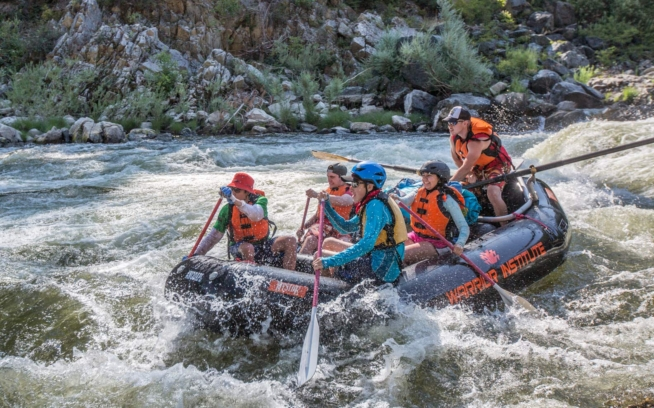 Students from Patagonia, Chile, and the Klamath River Basin form long-lasting bonds while confronting the challenges and joys of paddling 120 miles of the Klamath River. Photo: Ben Lehman