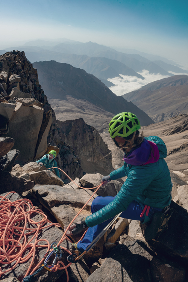 The relationships we forge with our partners in the mountains are deep, unique and treasured, and for many, the mountains are an escape from the pressures of everyday life. But for Iranian climbers, the difference between their time in the mountains and daily life is far starker. Photo: Beth Wald