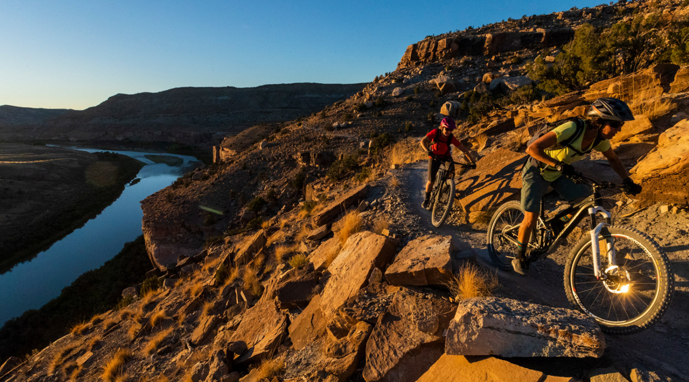 Across the valley from the 18 Road trail system—home of the ultra-iconic Zippity Do Dah —is Kokopelli's  Trail, another Fruita classic. Mary's Loop is just a part of the loop, but the views of the Colorado River make it a standout, especially at sunset. Photo: Carl Zoch
