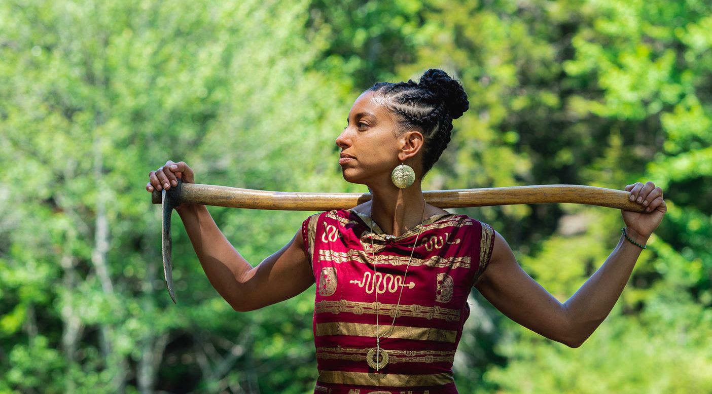 "Leah Penniman honors the legacies of African diasporic farmers and activists by working toward an environmentally and socially just future. ""Farming While Black,"" she says, ""is the book I needed someone to write for me when I was a teen who incorrectly believed that choosing a life on land would be a betrayal of my ancestors and of my Black community."" Photo: Jamel Mosely-Mel"